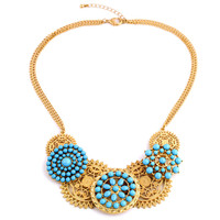 Women Graceful Tribal Chain Necklace with Hollow