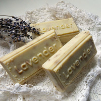 Three Bars of Pure Lavender Castile Soap / Pure Castile Vegan Soap