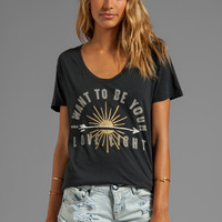 291 Love Light Short Sleeve Relax Tee in Vintage Black from REVOLVEclothing.com
