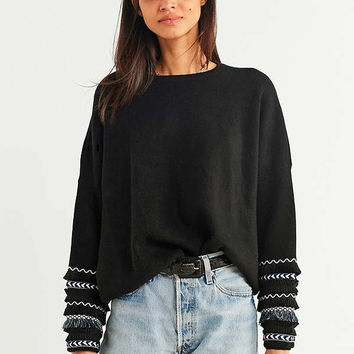 Ecote Carrie Party-Sleeve Sweater | Urban Outfitters