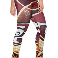 Football Leggings Yoga Pants Women's Compression Tights
