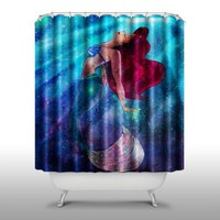 Pink Peri™ The Little Mermaid Shower Curtain Handmade Home & Living Bathroom,70-Inch by 70-Inch