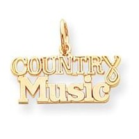 Talking - Country Music Charm in 10k Yellow Gold
