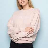 Erica New York Embroidery Sweatshirt - Embroidery - Graphics