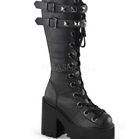 Demonia Assault Vegan Knee High Leather Boots