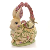 Jim Shore HONEY OF A BUNNY Polyresin 13th Annual Easter Basket 4058987