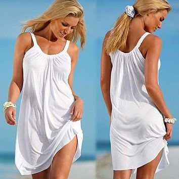 Sleeveless Swimming Beach Cover-Up