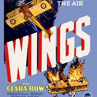 Wings Movie Poster Clara Bow Gary Cooper