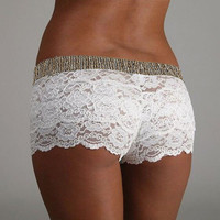 Crochet shorts fashion high waist slim sexy shorts
