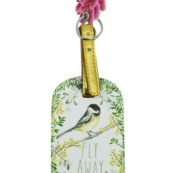 Fly Away Yellow-breasted chat Graphic Art Design Luggage Tag