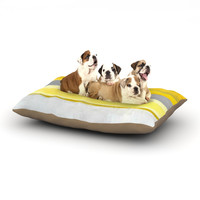 "CarolLynn Tice ""Lemon"" Yellow Gray Dog Bed"