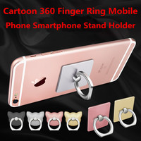 Cartoon 360 Finger Ring Mobile Phone Smartphone Stand Holder For iPhone 7 Plus For Samsung Smart Phone GPS MP3 Car Mount Stand