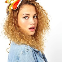Johnny Loves Rosie Red Chain Print Head Band