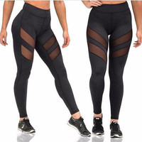 Openwork Perspective Four Seasons Sport Yoga Sexy Pants Leggings