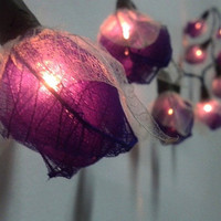 35 Purple Little Rose  Flowers  Fairy String Lights  Wedding Party Floral Home Decoration