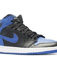 Ready Stock Nike Air Jordan 1 Retro Black Royal Blue Basketball Sport Shoes