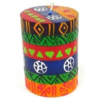 Handmade Single Boxed Hand-Painted Pillar Decorative Candle
