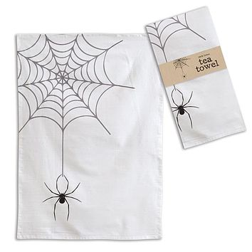 Spider Web Tea Towel - Box of 4