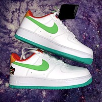 Nike Air Force 1 new couples stitching low-top casual sneakers