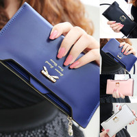 Leather Long Zip Wallet