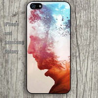 Abstract human bird sky colorful iphone 6 6 plus iPhone 5 5S 5C case Samsung S3,S4,S5 case Ipod Silicone plastic Phone cover Waterproof A0974