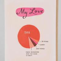 Emily McDowell Love Pie Chart Card - Urban Outfitters
