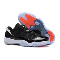 Air Jordan 11 Low Aj11 Black/white/orange Basketball Sneaker Size Us 8 13 | Best Deal Online
