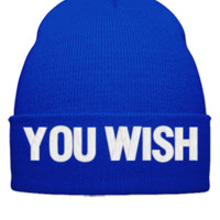 YOU WISH EMBROIDERY HAT - Beanie Cuffed Knit Cap
