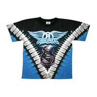 Aerosmith Men's  Guitar Tie Dye T-shirt Multi
