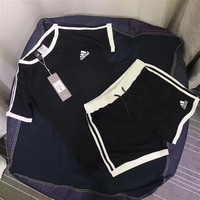"Women Fashion ""Adidas"" Print Short sleeve Top Shorts Pants Sweatpants Set Two-Piece Sportswear"