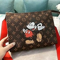 LV Louis Vuitton & Mickey Mouse New fashion monogram leather shoulder bag crossbody bag cosmetic bag