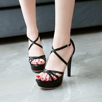Women's High Heel Platform Stiletto Heel Sandals