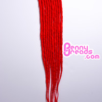 Bright Red U-Tip Synthetic Dreadlocks (10 pieces)