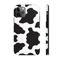 Cow Print White Case Mate Tough Phone Cases