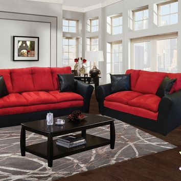 Brandon Collection Sofa And Loveseat by HD Furniture