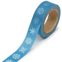 DARICE 1217-137 Washi Tape Roll, 5/8 by 315-Inch, Snowflakes