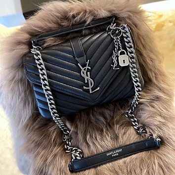 Saint Laurent YSL Leather Shoulder bag