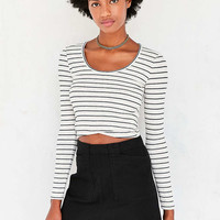 Project Social T Crystal Long-Sleeve Cross-Front Top - Urban Outfitters