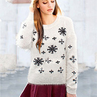 Snowflake Mohair Sweater