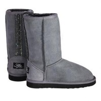 Love From Australia Classic Short Party Gray Sheepskin Boot