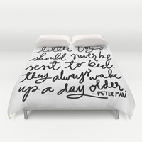 Peter Pan Print by Aedriel Duvet Cover by Aedriel