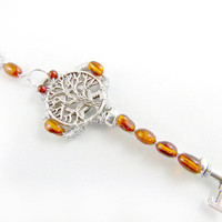 Amber Tree of Life Key Necklace by angelyques on Etsy