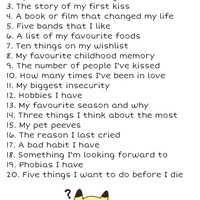 list of questions about me - Google Search