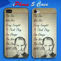 Steve Jobs Crazy Quote Custom iPhone 5 Case Cover from namina