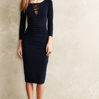 Catrina Inset Lace Dress by Velvet by Graham and Spencer Navy