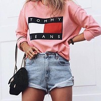Tommy Jeans Fashion Long Sleeve Pullover Sweatshirt Top Sweater3