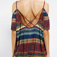 Urban Outfitters - Ecote Silver Soul Shoulder Top