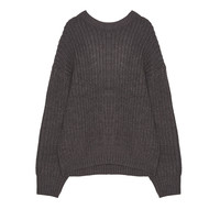 Batwing sleeve boyfriend sweater - Knit - Clothing - Woman - PULL&BEAR United Kingdom