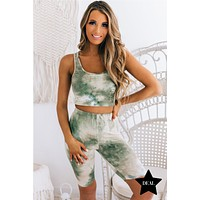Los Angeles Living Tie Dye Two Piece Set (Olive Tie Dye)