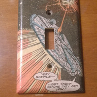Millennium Falcon Star Wars comic book light switch cover
